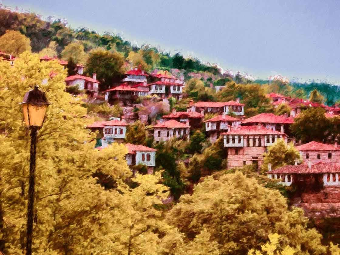 Malerisches Bergdorf in Griechenland