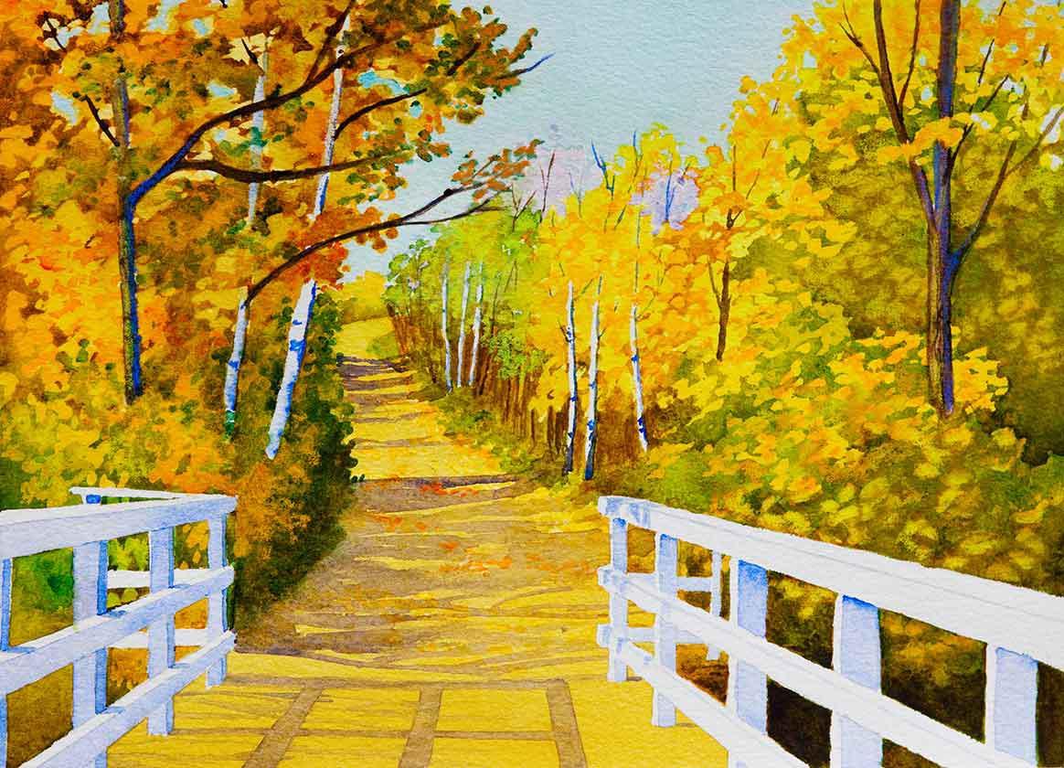 Weg in  Nordsaskatchewan im Herbst