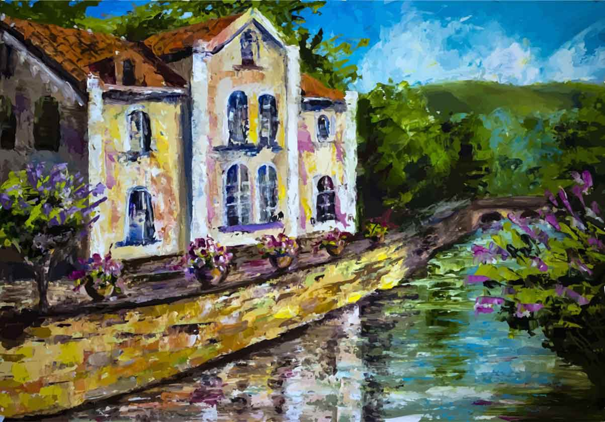 Illustration eines Hauses