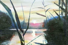 Sonnenuntergang am Dnjepr