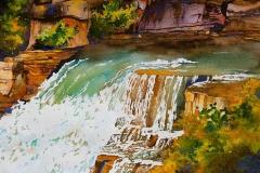 Wasserfalllandschaft, nahe Markham, Ontario, Kanada