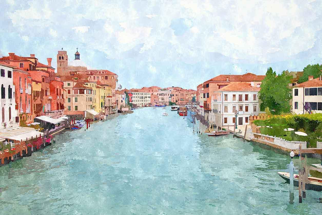 Hauptwasserkanal in Venedig