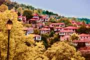 Picturesque mountain village in Greece